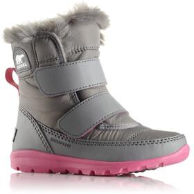 Sorel Whitney Short Velcro Kozaki Dzieci szary/różowy